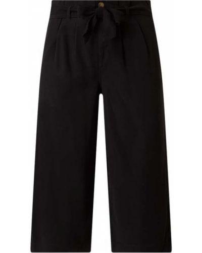 Czarne spodnie z wiązaniami Only