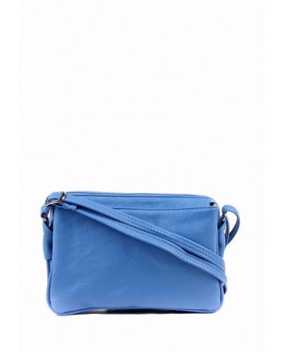 Синяя сумка через плечо медведково