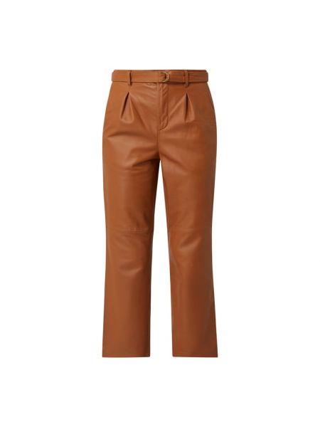 Brązowe spodnie skorzane Goosecraft
