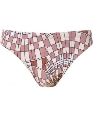 Текстильные светло-розовые плавки с рисунком с подкладкой Amir Slama