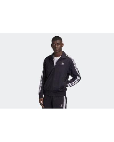 Czarna długa kurtka z długimi rękawami Adidas
