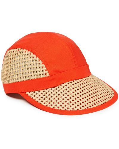 С ремешком оранжевая кепка Rag & Bone