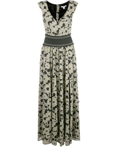 Вечернее платье с цветочным принтом с V-образным вырезом Zac Zac Posen