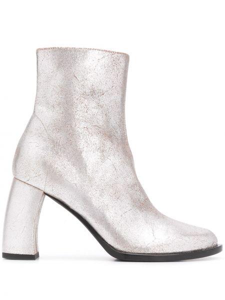 Кожаные сапоги на каблуке на молнии Ann Demeulemeester