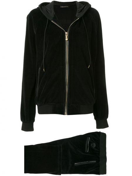 Черный нейлоновый спортивный костюм с карманами Versace Pre-owned