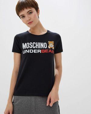 Футболка - черная Moschino Underwear