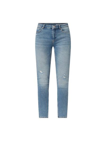 Bawełna bawełna niebieski obcisłe dżinsy z zamkiem błyskawicznym Review