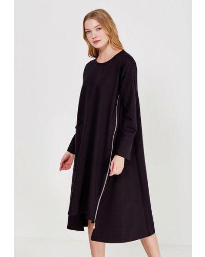 Платье осеннее черное Lucky Move