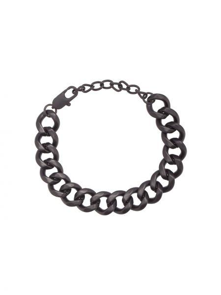 Черный браслет металлический Hues
