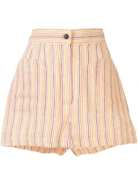 Оранжевые хлопковые шорты с карманами Three Graces