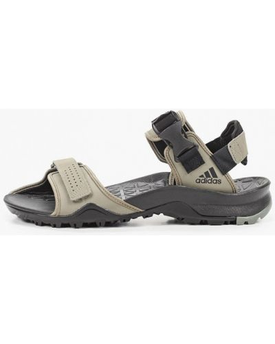 Текстильные сандалии хаки Adidas