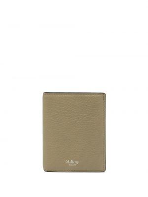 Portfel skórzany - zielony Mulberry