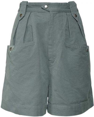 Зеленые хлопковые шорты с карманами Isabel Marant étoile