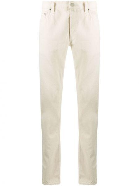 Bawełna prosto jeansy o prostym kroju z łatami z paskiem Department 5