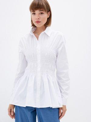 Белая рубашка с длинным рукавом летняя Gloss