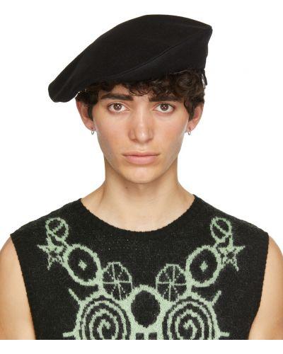 Czarna beret wełniana z klamrą Charles Jeffrey Loverboy