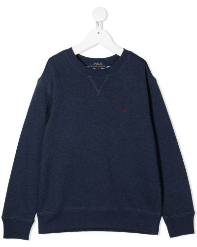 Bawełna z rękawami niebieski koszulka polo z haftem Polo Ralph Lauren