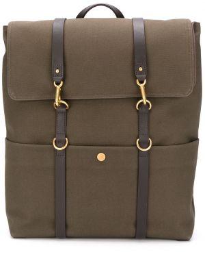 С ремешком зеленый парусиновый рюкзак на бретелях Mismo