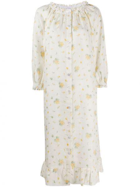 Платье миди с цветочным принтом со вставками Sleeper