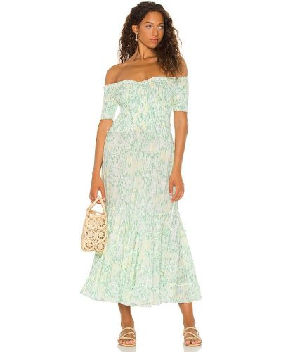 Платье миди - зеленое Poupette St Barth