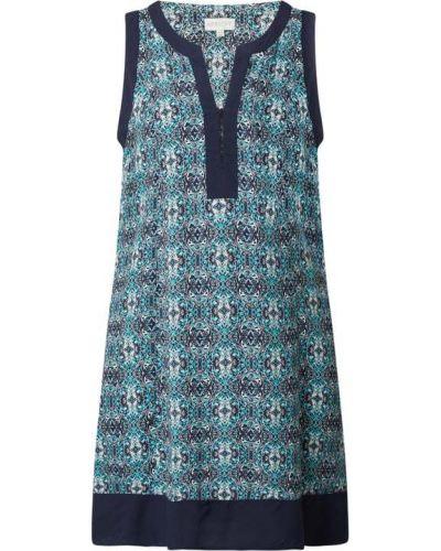 Sukienka z wiskozy bez rękawów z dekoltem w serek Apricot