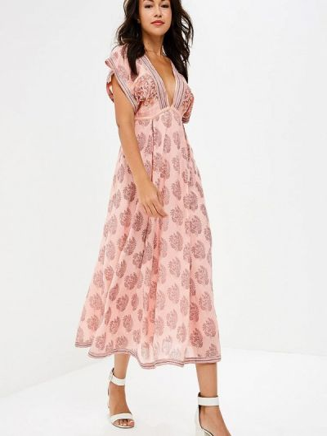Розовое платье весеннее Free People