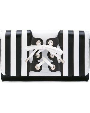 Кожаный черный корсет на шнуровке с карманами Perrin Paris