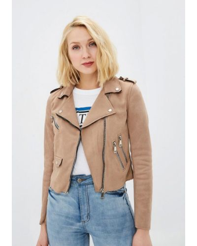 Кожаная куртка - бежевая Pink Woman