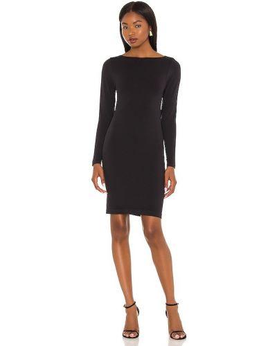 Платье макси с длинными рукавами - черное Yummie