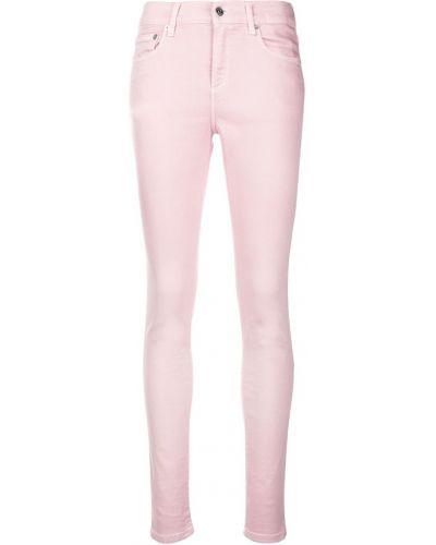 Зауженные джинсы - розовые Versus