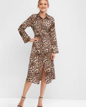 Платье миди макси леопардовое Zaful