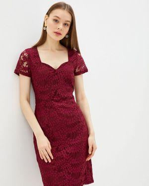 Вечернее платье осеннее красный Yumi