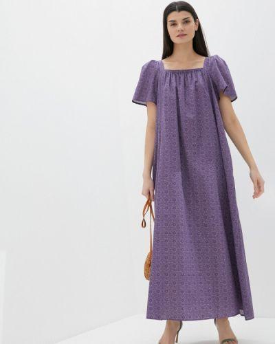 Прямое фиолетовое платье А-силуэта United Colors Of Benetton