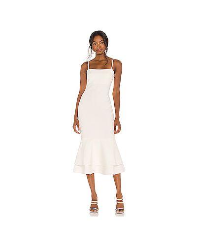 Шелковое белое платье с подкладкой Likely