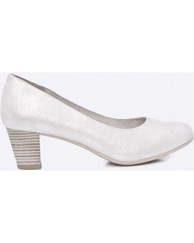 Туфли на каблуке серебряный Jana