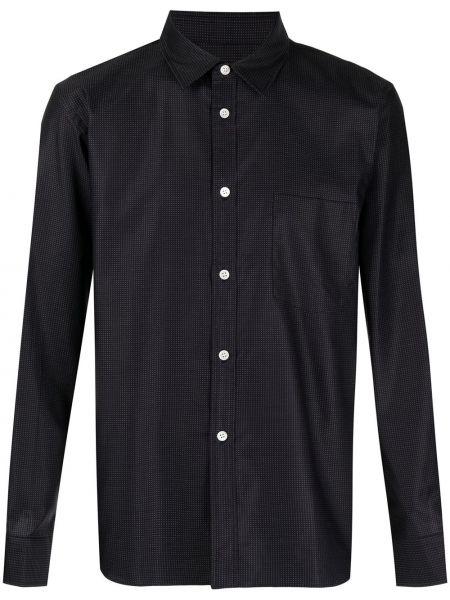 Czarna koszula bawełniana z haftem Comme Des Garcons Homme Deux
