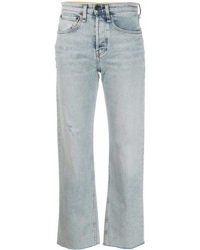 Прямые джинсы синие на пуговицах Rag & Bone