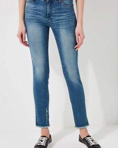 Синие джинсы-скинни Armani Exchange
