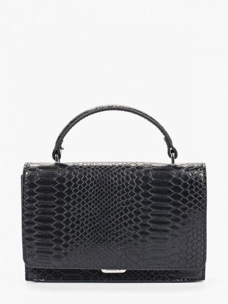 Кожаная сумка с ручками черная Aldo