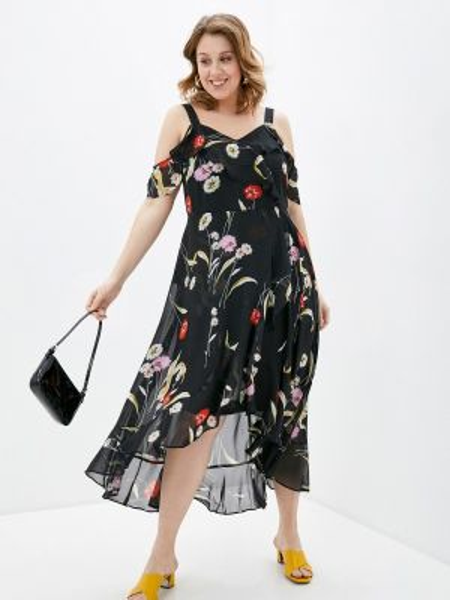 Платье - черное Evans