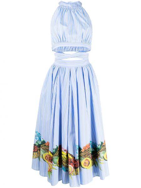 Синее платье с круглым вырезом Stella Jean