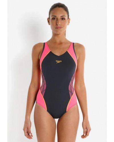 Серый спортивный купальник Speedo