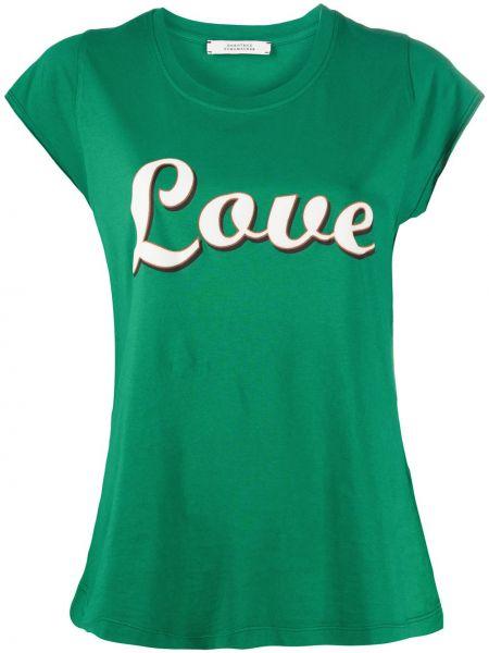 Ватная хлопковая с рукавами зеленая рубашка с коротким рукавом Dorothee Schumacher