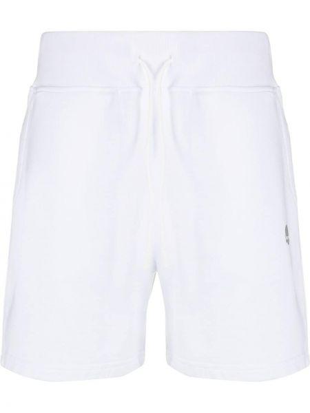 Białe krótkie szorty bawełniane Hydrogen