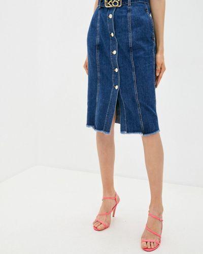 Синяя джинсовая юбка Pinko