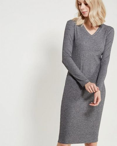 Серое платье осеннее A-a By Ksenia Avakyan