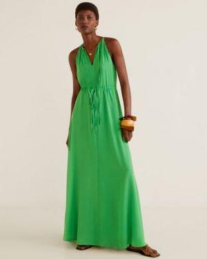 Платье с поясом с американской проймой с V-образным вырезом Mango