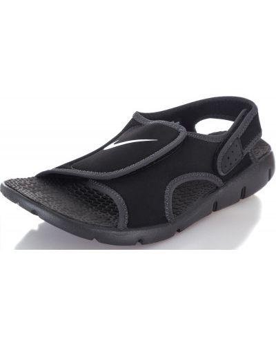 Спортивные сандалии на липучках кожаные Nike