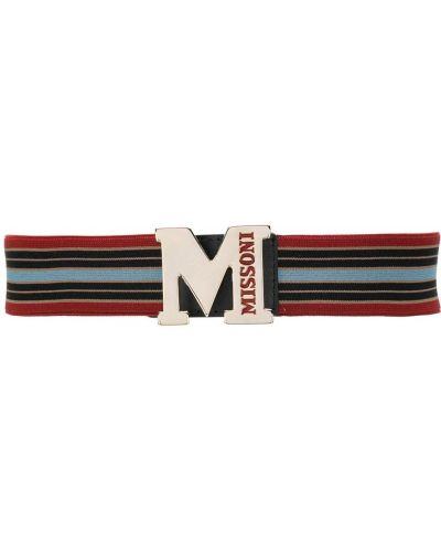 Ремень с логотипом красный M Missoni