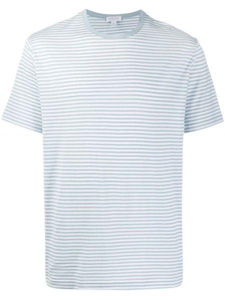 Koszula krótkie z krótkim rękawem z paskami w paski Sunspel